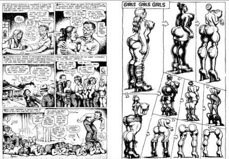 نموذج عن رسومات روبرت كرم Robert Crumb