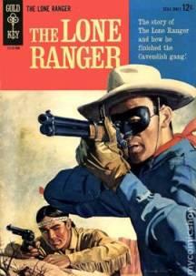 قصص مصورة لون رينجر ورفيقه تونتو في عدد مجلة صدر من دار المطابع غولد كي (المفتاح الذهبي) في العام 1964